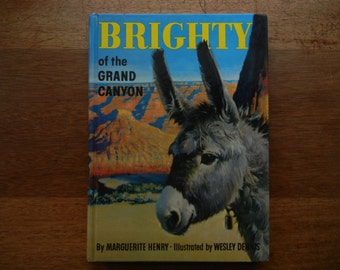 Brighty of the Grand Canyon by Marguerite Henry ~ 1953 First Edition