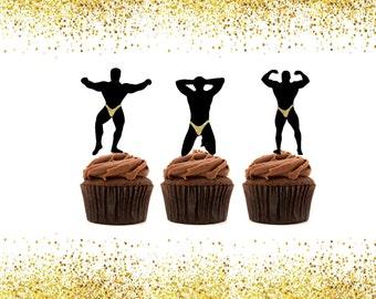 Cupcake Topper - Bachelorette party - bachelorette party favors - bachelorette cupcake toppers - bachelorette cake topper - Girls Night Out