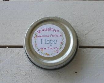 Blessings Beeswax Perfume, Solid Perfume, Botanical Perfume, Hope