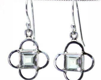Lemon Quartz Earrings, 925 Sterling Silver, Unique only 1 piece available! color yellow, weight 5g, #24538