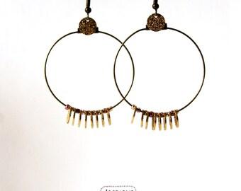 Creoles sequins golden earrings