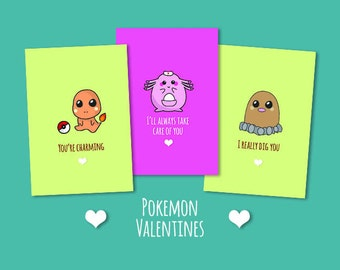 Pokemon Valentines Day Cards: Love cards inspired by Pokemon games & anime