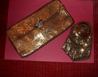 VINTAGE Evening Bag & Mirrored Accessory Bag