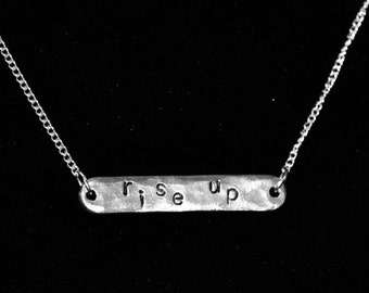 Rise Up Necklace Inspired by Hamilton Musical Broadway Alexander Hamilton