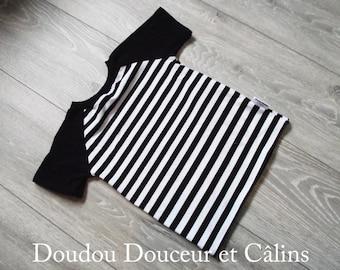 Striped sweater 'monochrome' short sleeve