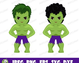 SVG, Boy in costume Hulk SVG, Superhero Hulk, Silhouette Cut Files, Cricut Cut Files Personal and Commercial Use .