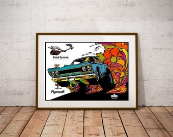 Road Runner 1968 Poster - Performance Muscle Car