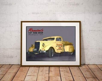 Rossini's Hot Rod Shop Poster – Established in 1949 Chatham Ontario Canada