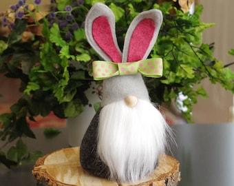 Nordic Bunny Gnome ~ Felt Gnome