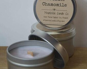 Lavender Chamomile Soy Candle Tins - 8oz.   Spring Candle   Aromatherapy Candle   Yoga Candle   Yoga   Soy Candle Tin   Lavender Soy Candle