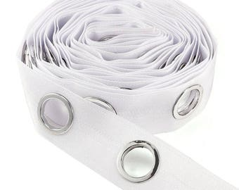 40mm Curtain Tape Heading White Header Eyelet Ring Lining 1.57 inch by the metre