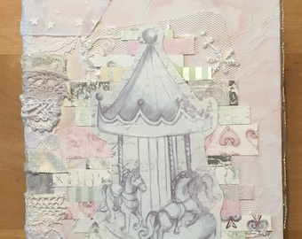 Pastel shabby chic junk journal