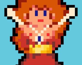 """Pixel Princess"" Erotic Digital Drawing [5x7"" 300dpi .jpeg file]"
