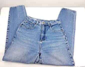 VINTAGE High rise jeans FABRIZIO 80S/90S / mom jeans / acid wash /