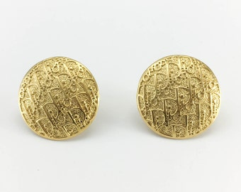Dior Gold-Tone Trotter Stud Earrings