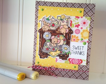 Homemade Sweet Thanks Greeting Card Thank You Card