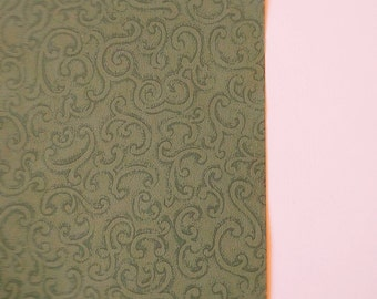 Vintage Wallpaper Green Filigree by Clarence House