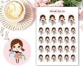 Amelie kawaii SHOPPING planner stickers || Erin Condren Life Planner, Kikki K, Plum Paper Planner