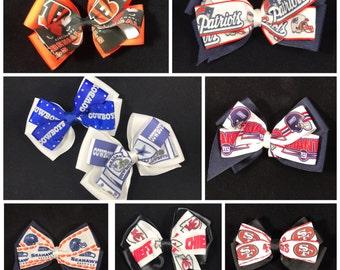 NFL Inspired Team Hair bows - Football Hair bow - Football Team Hair bow