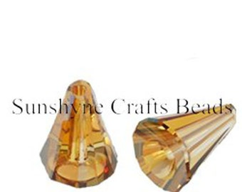 Swarovski Crystal Beads 2 Pcs 5540 CRYSTAL COPPER 12MM Artemis Faceted Bead