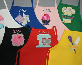 Personalized Children's Apron in two sizes, Small and Large Children's Apron