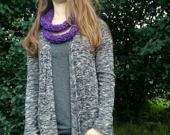 Purple double loop scarf