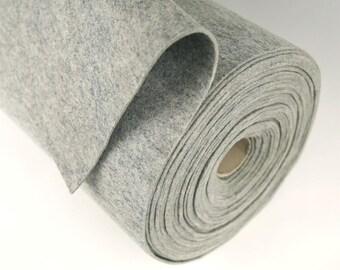 "Half Yard 18"" x 36"" Heather Grey 100% Merino Wool Felt"