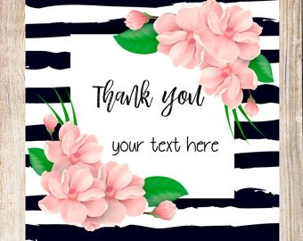 Thank you stickers, thank you labels, cute floral stickers, custom labels, custom stickers, personalized labels,personalized labels,stickers