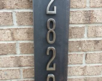 Metal Address Sign