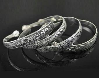Bohemian Bracelet - Silver Bohemian bracelet - bohemian silver cuff bracelet - statement jewelry - gypsy silver bracelet  - festival jewelry