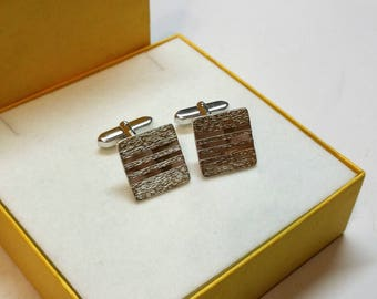 Cuff links of cufflinks silver 800 partly gold plated vintage classy elegant MS145