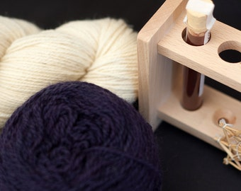 Natural Dye Kit - logwood purple - organic wool - dyeing with plant extract
