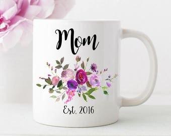 personalized mom mug, mom gift, mom coffee cup-floral mug mig