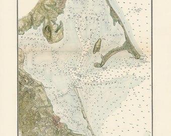 0425-Plymouth, Kingston and Duxbury Harbor 1876 - Nautical Chart by the U. S. Coastal Survey