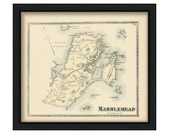 Town of Marblehead 1872 Map