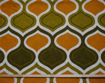 Vintage curtain fabric rideaus gardines tissu fabric of 70s 70s op art Panton