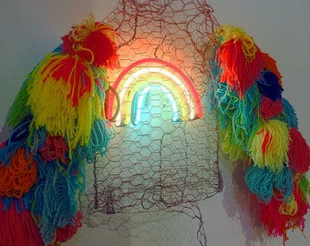 Rainbow on my sleeves neon sculpture