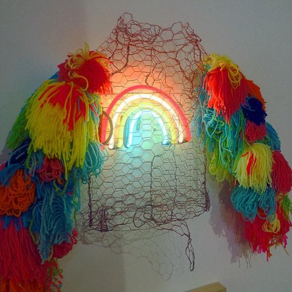 Rainbow on my sleeves neon sculpture