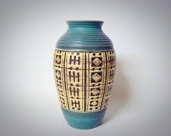 West germany Vintage Sixties Fat Lava Übelacker vase 1114/21