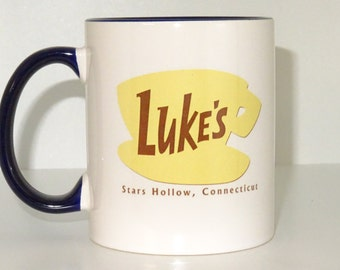 Gilmore Girls Coffee Mug, tea, Luke's Diner Mug, Stars Hollow Connecticut,Gilmore Girls Inspired, Funny, Cool, Novelty mug, printing mug