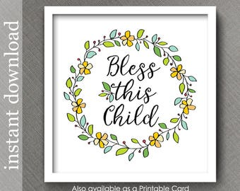 Nursery Printable, nursery decor, nursery wall art, colorful nursery, baby quote, baby room decor, nursery print, baby print, religious baby