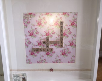 Scrabble Art Large frame