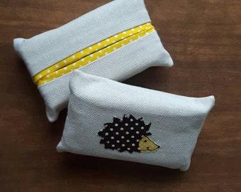 Hedgehog Pocket Tissue Cover - Travel Tissue Case - Kleenex Holder - Pocket Tissue Holder - Fabric Tissue Case - Tissue cozie