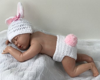 Baby Bunny photo props, Newborn bunny, Photography prop, baby shower gift, Bunny Rabbit, Easter Photo Props, Baby Bunny Hats, Easter Props