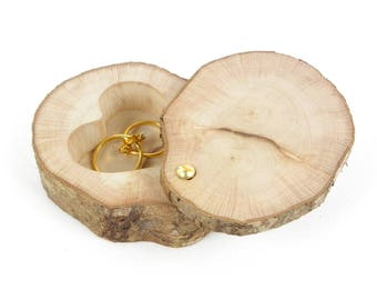 Box to hand in a slice of wood made alliances, has alliances rustiqu natural wood