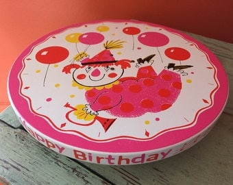Vintage 1960's Musical Rotating Cake Plate--SHIPS FREE!