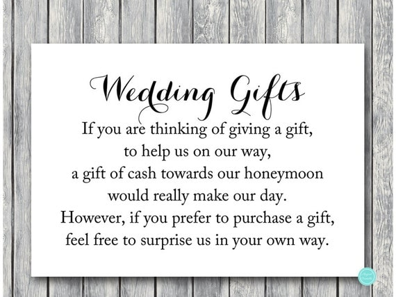 Wedding Cash Gift Registry: Wedding Gift Honeymoon Fund Card And Sign Cash By BrideandBows