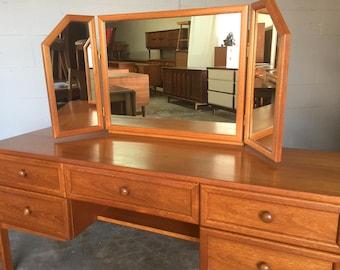Mid Century Vanity Desk