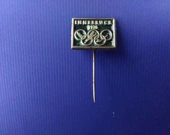 Innsbruck 1976 Winter Olympics Vintage Badge Original Olympic Games