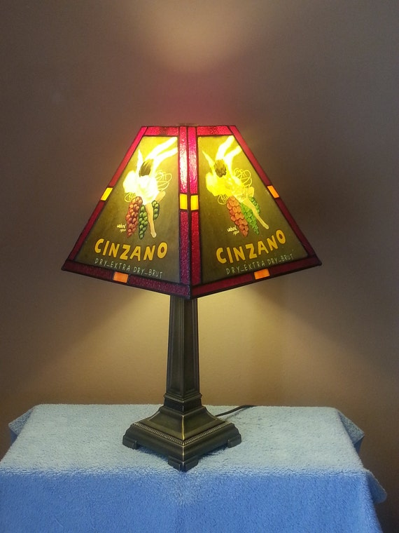 Cinzano Stained Glass Lamp Dale Tiffany